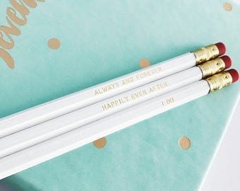 White Wedding Pencil Pack