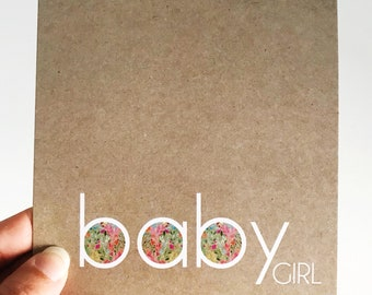 Baby Girl Card {TINY FLORAL}