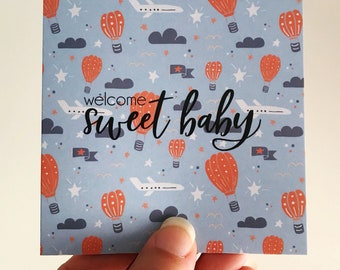 Welcome Baby Mini Card {Fly Boy}