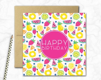 Tutti Fruitti Mini Birthday Card