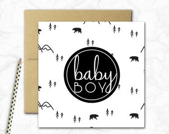 Baby Boy Mini Card {IN THE WILD}