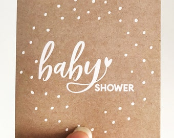 Kraft Spots Baby Shower Mini Card