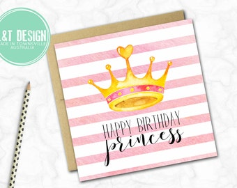 Birthday Card {Stripey Princess}
