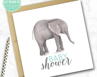 Elephant Baby Shower Mini Card