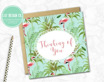 Thinking of You Card {FLAMINGOS}