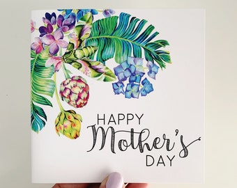 Mother's Day Card {Tropical Floral}