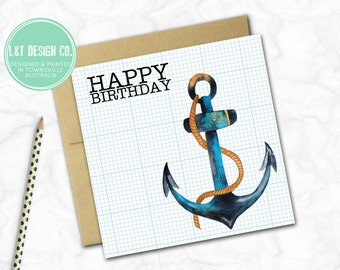 Birthday Card {Anchor's Away!}
