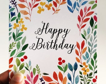 Birthday Card {FLOWER POWER}