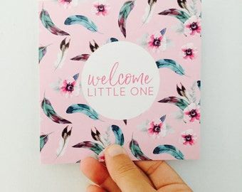 New Baby Girl Card - Boho