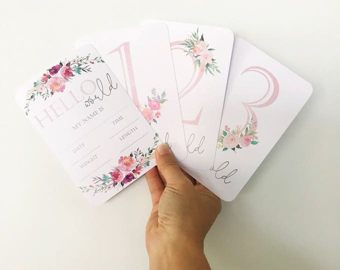 Featured listing image: Baby Milestone Cards {BABY BOUQUET}