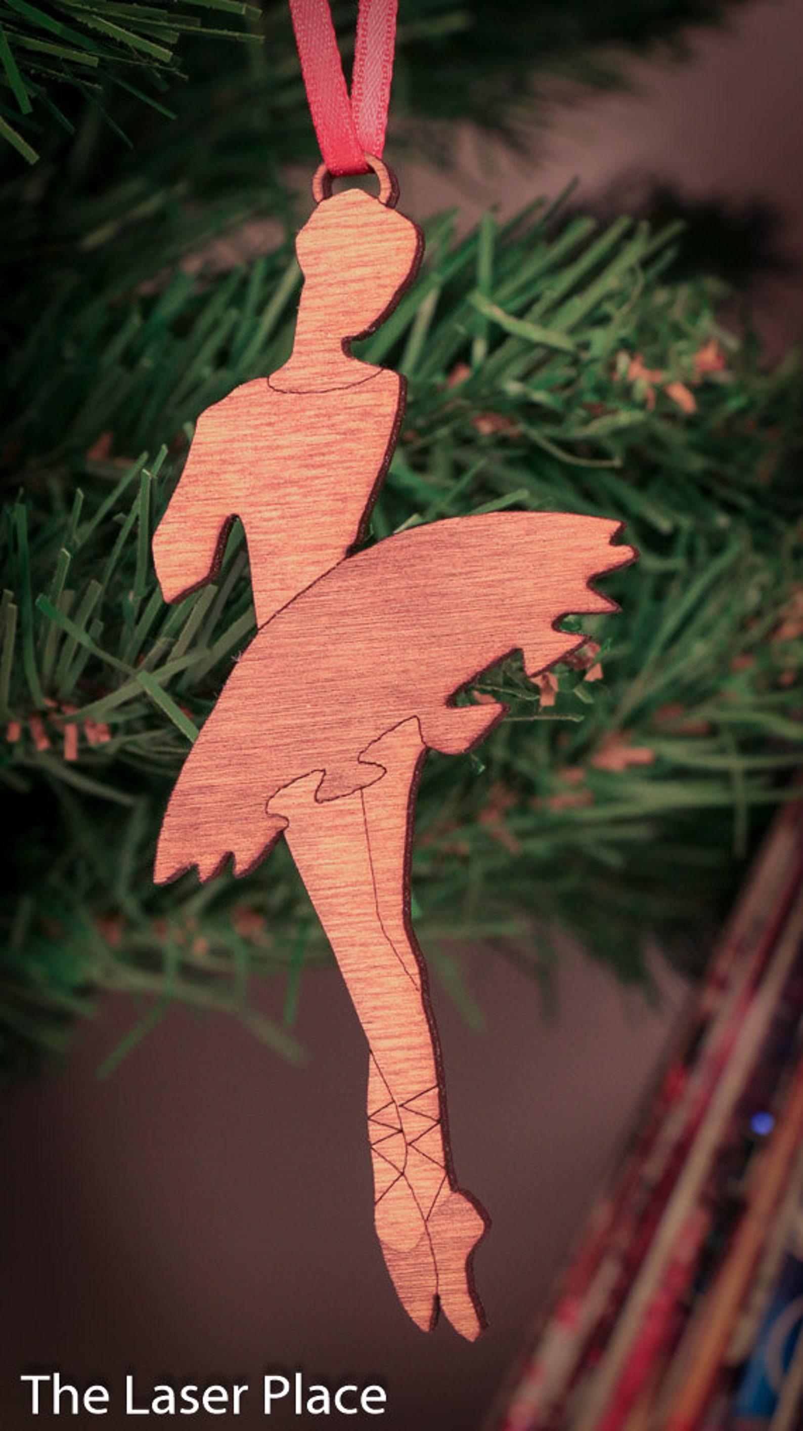 ballet dancer laser cut christmas ornament chr115