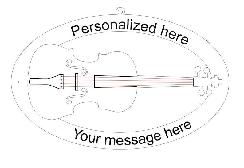 Cello Laser Cut Ornament MU210