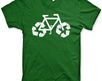 Kid's recycle bicycle shirt