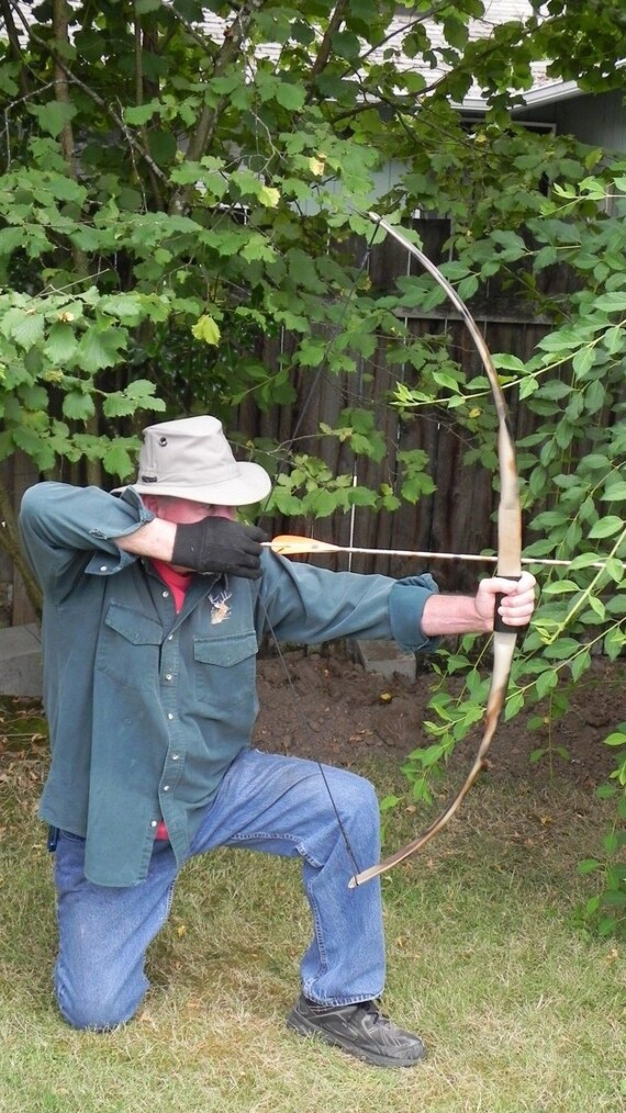 "Archery Long Bow /""Black Lightning/"" 58/"" 40LB @28/"" FREE GUIDE//REST"