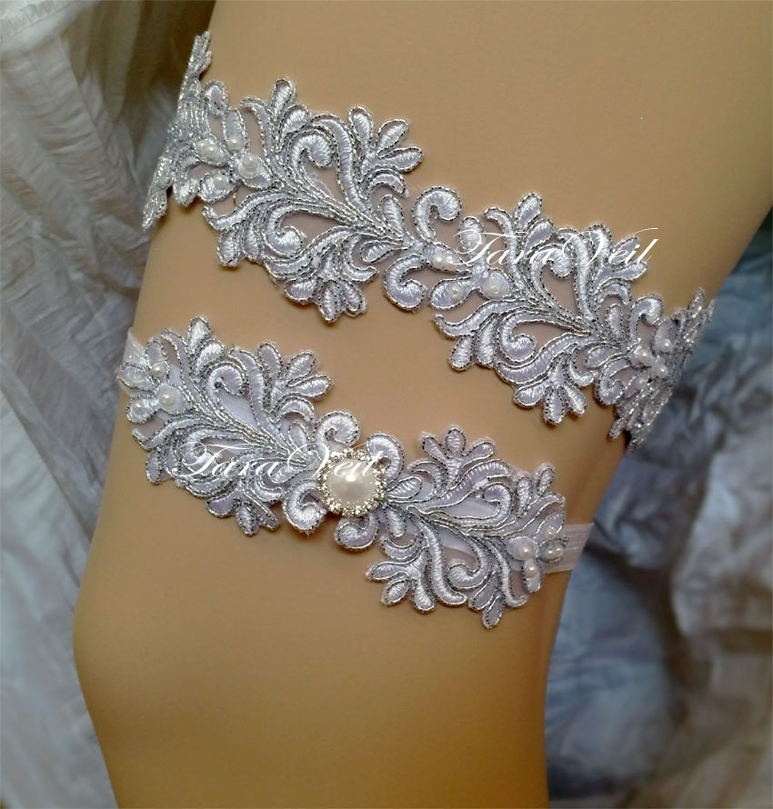 What Is A Wedding Garter: Wedding Garter/Bridal Garter/Silver Garter/ Rhinestone