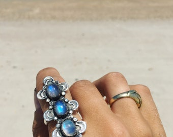 Moonstone Luna Climber Ring