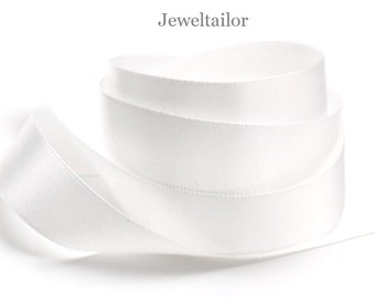 3 Metres of PRE CUT 50mm wide WHITE Good Quality Double Face Satin Ribbon