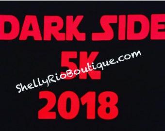Dark Side 5k Race, Dark Side Half Marathon Iron On