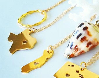 Gold Texas State Necklace Texas Silhouette Necklace Texas State Gift