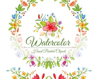 WATERCOLOR FRAME, border, embellishment, hand painted, without background, 300 dpi