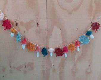 Crochet autumn bunting