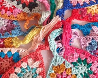 Crochet bunting garland