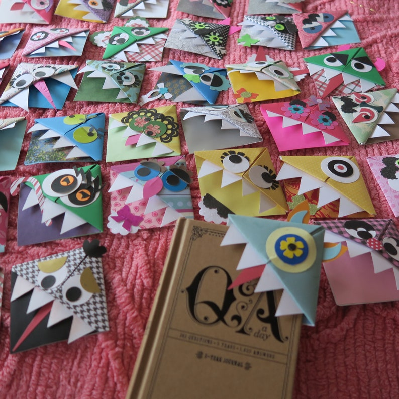 Monster bookmarks random lot for children's party favors image 0