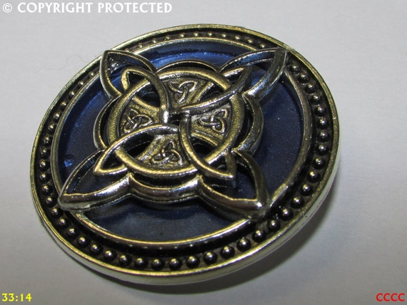 Steampunk pin badge brooch silver snake on black and silver backing Black Adder Harry Potter Slytherin  #LO58