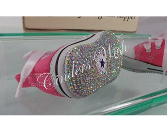 Baby sparkling sole converse   Baby bling converse   baby diamante converse    pink baby converse 9ab3e48a12