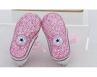 edf21f647b90 Baby converse   twinkle toes  bling toe converse   flowergirl shoes   bling baby  shoes