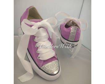 Purple Bling toe converse   sparkle converse   customised diamante converse    diamante converse   c57074940e