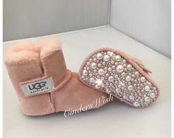 Bling baby uggs / Premium crystal uggs / Swarvoski uggs / Baby booties / sparkly baby shoes / Crystalised Uggs