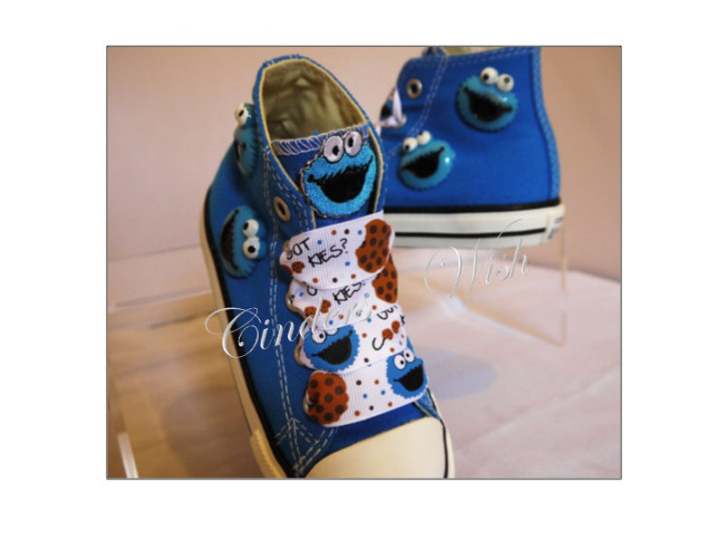 4aead9de0d37 Cookie monster shoes   customised converse   boys converse