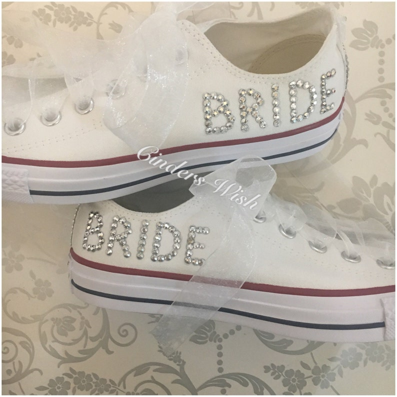 bdef8b34607673 Wedding converse   bridesmaid converse   customised converse