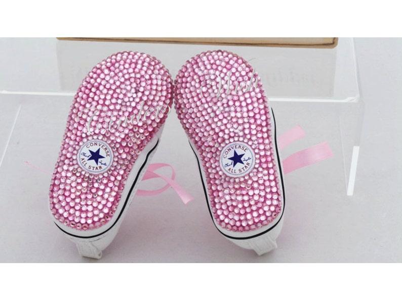 2c4cf3764f98df Baby converse   twinkle toes  bling toe converse   flowergirl