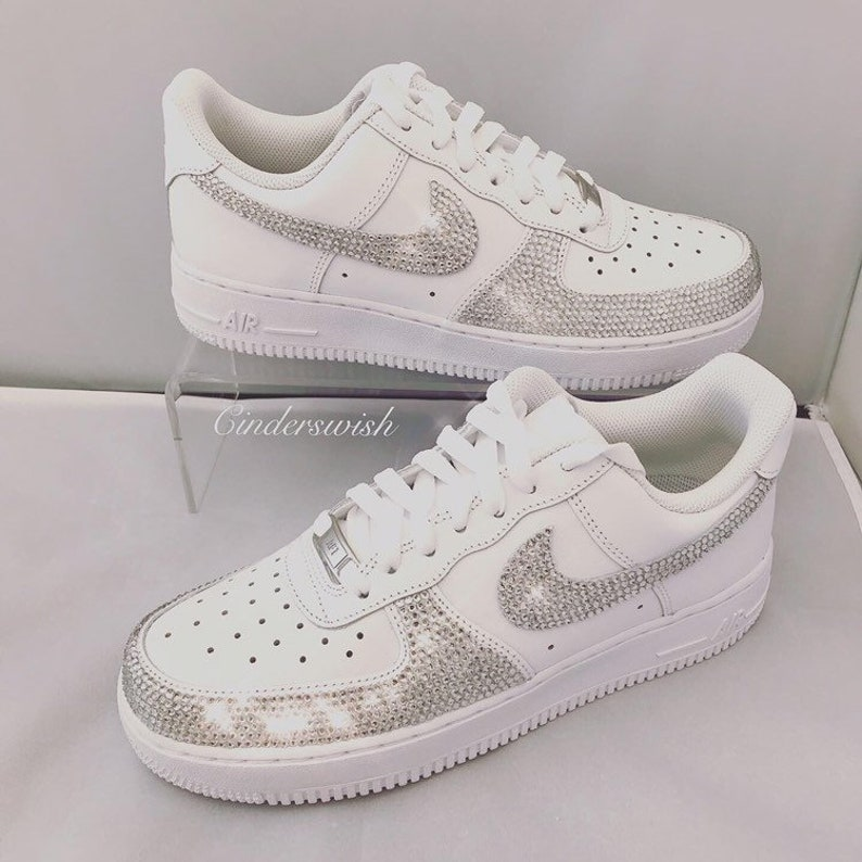 Swarovski Adult size Nike Air Force one full front brillato in cqbpWTFm