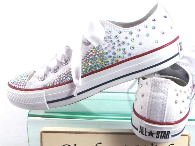 huge discount 38494 7b966 Fairy Dust   Sparkle Converse   Bridal Converse   Wedding   Etsy