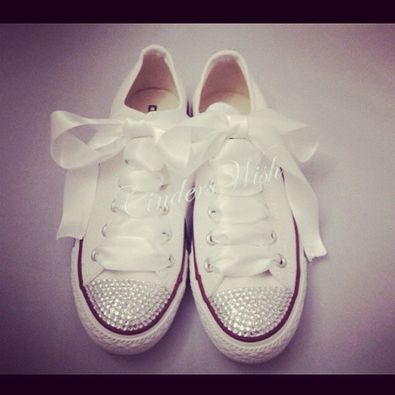 Bling toe converse   sparkle converse   customised diamante  943dab86e0