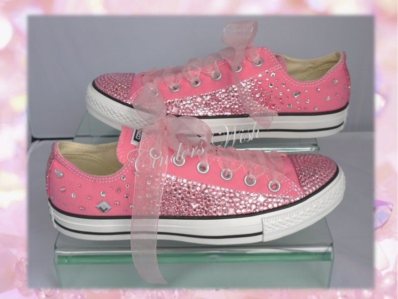 Pink teardrop converse   Customised converse   Wedding  9ec216e6cf
