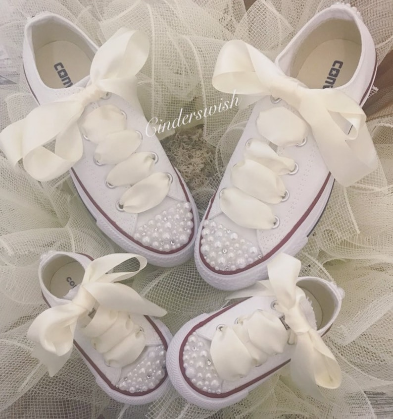 903430ec399d Mummy   Me matching Wedding shoes   Bride and Flowergirl