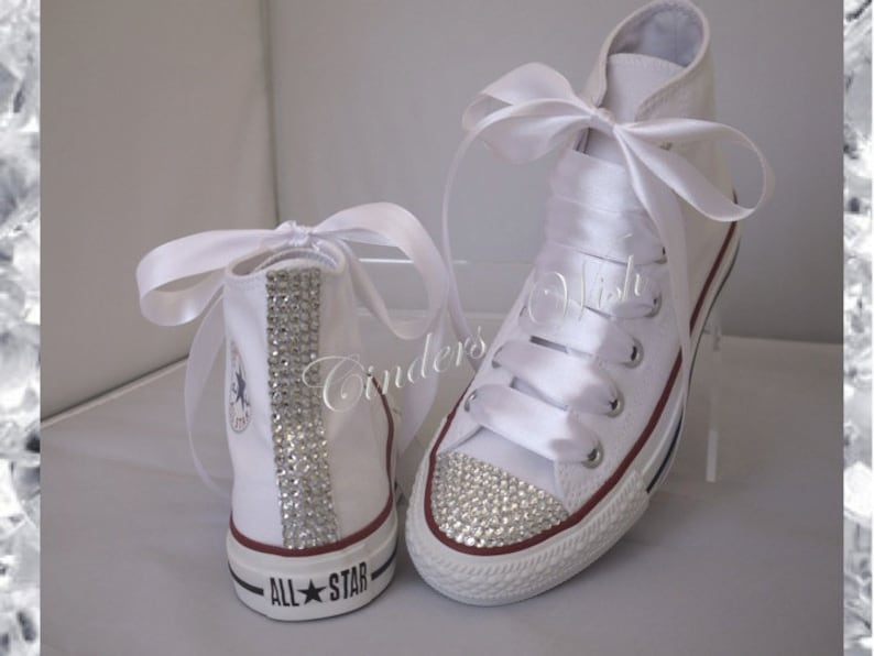 c3d704b8c663 Classic sparkle converse   high top bling converse