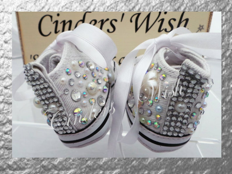 f06326700a99 Baby converse   bling toe converse   flowergirl shoes   bling
