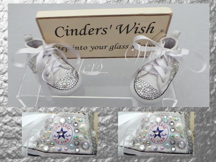 Baby converse   bling toe converse   flowergirl shoes   bling baby shoes 7cd556906