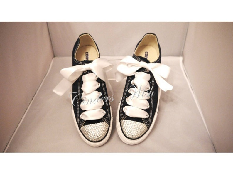2da42ce43cec Bling toe converse   sparkle converse   customised diamante