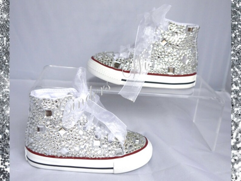 02e3139dfa7d Kids Crystal Teardrop All Over Converse Covered in Sparkles