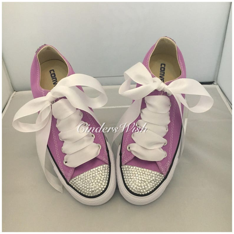 db6b0f304a8d Purple Bling toe converse   sparkle converse   customised