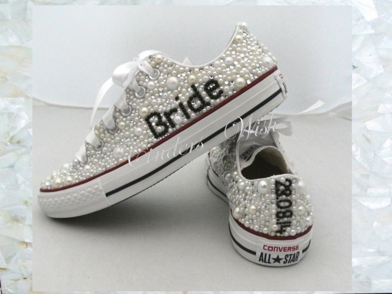 0f9a6987b7fef4 Wedding converse   luxury footwear  bridesmaid converse