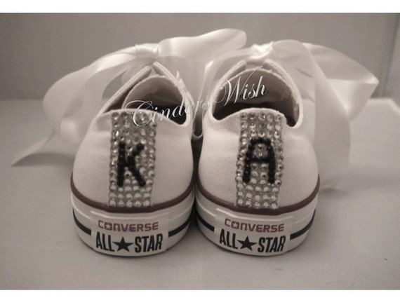 f1f5d281099e Sparkling initial Converse   Personalised ConverseBling toe