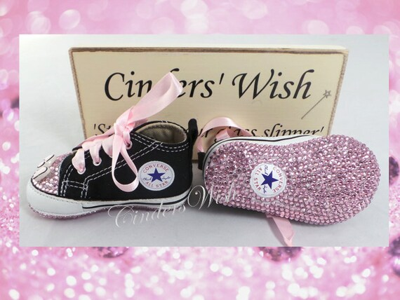 fa88d67fc53641 Bow Baby converse Bow converse twinkle toes  bling toe