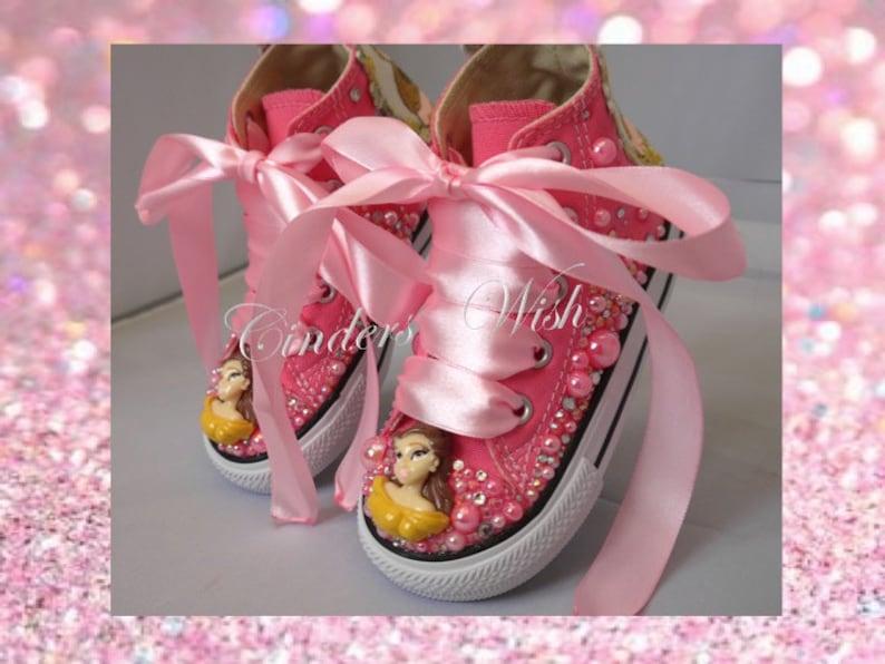 Belle pearl Converse   Disney princess converse   kids pearl  be03f26974